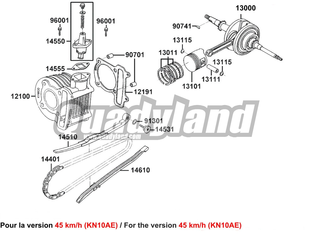 CYLINDRE PISTON (KN10AE)